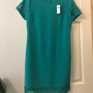 Teal banana republic dress
